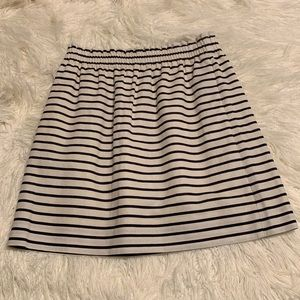 J Crew Navy & White Striped Skirt Linen Blend 4